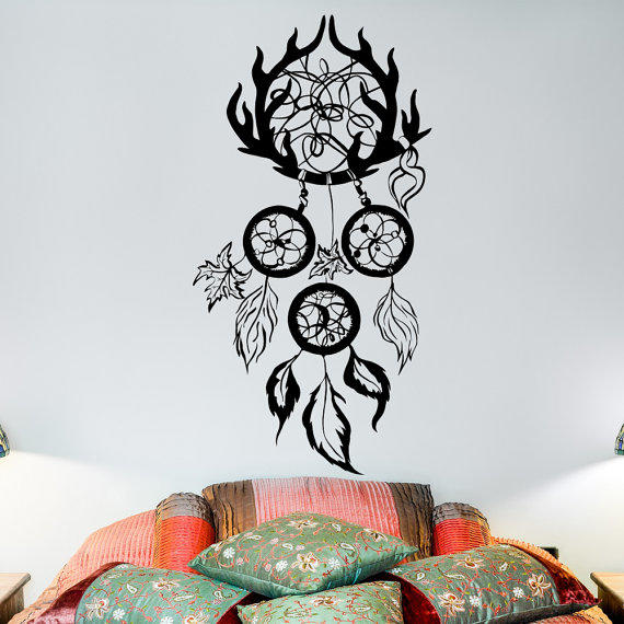 Dreamcatcher Wall Decal- Boho from FabWallDecals on Etsy ...