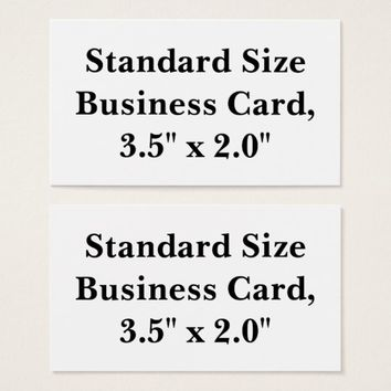 Personalized Standard Size Business Card