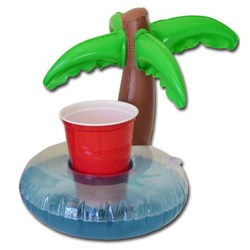 Drink Can Holder Trees Inflatable Drink Can Bottle Holder Swimming Bath Party Beach Pool Kid Toys Event & Party Supplies