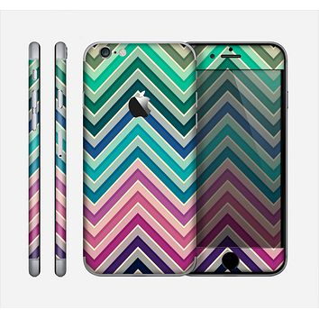 The Vibrant Colored Chevron Layered V4 Skin for the Apple iPhone 6