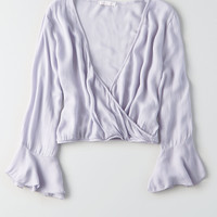 Don't Ask Why Bell Sleeve Shirt, Lively Lilac