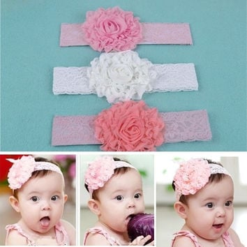 Baby Infant Girls Toddler Large Flower Headdress Hairband Soft Headband 5468 = 1645905476