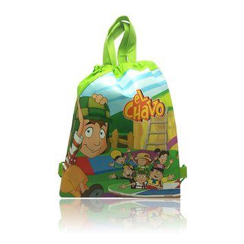 New Products 12Pcs EL Chavo Kids Boys Drawstring Backpacks School Bags,Children Party Bags,Shopping Bags,new Novelty Gifts