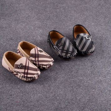 2016 spring and autumn child leather children Moccasins baby toddler shoes 1 - 2 - 3 soft outsole foot wrapping single shoes