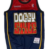 Doggy Style Navy-Red Basketball Jersey