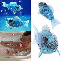 New Brand Baby Fish Toys Childen Kids Robotic Pet Activated Battery Powered Robo Fish Toy high quality
