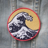 Great Wave Iron On Patch