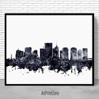 Richmond Print, Richmond Skyline, Richmond Virginia, Office Decor, City Skyline Prints, Skyline Art, Cityscape Art, ArtPrintZone