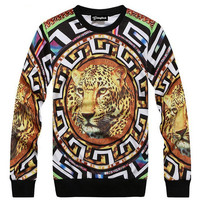 Leopard of Aztec Crewneck