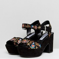 Steve Madden Bonnie Embroidered Sandal at asos.com