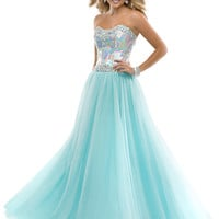 Sweetheart Beaded Top Formal Prom Dress Flirt P4862