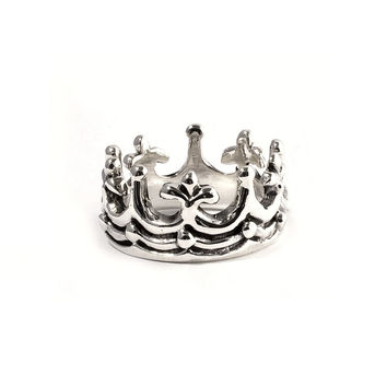 925 Sterling Silver Crown of Triumph 11MM Ring