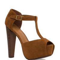 Eliza Heels in Brown