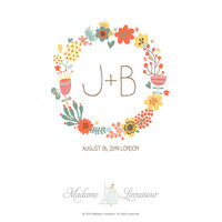 SALE! Premade Wedding Monogram | Wedding Logo | Wedding Crest - Wedding design made easy - Jpg & Png logo (PSD with Add-on purchase)