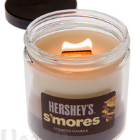 Hershey's S'mores Scented Candle with a Crackling Wooden Wick