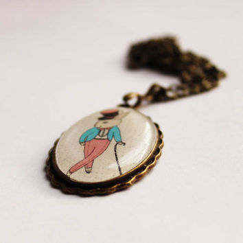 FREE SHIPPING  necklace Rabbitdancer by Dinabijushop on Etsy