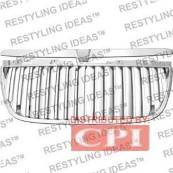 Gmc 2007-2009 Gmc Yukon Chrome Vertical Wide Bar Abs Grille Performance