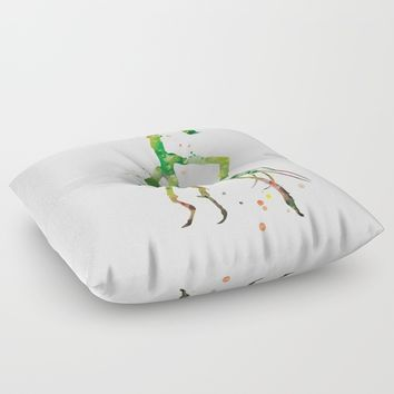 Pickett Bowtruckle Floor Pillow by MonnPrint