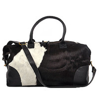 Black Cowhide Weekender Duffle | Gracious Home | Product