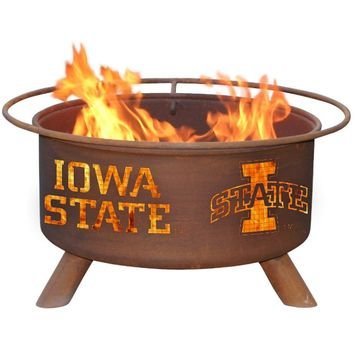 Iowa State Steel Fire Pit by Patina Products