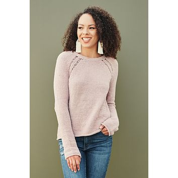 Keep Calm And Sweater On Chenille Sweater (Dusty Pink)