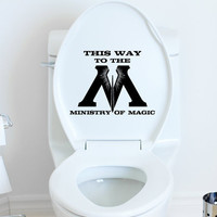 This Way to Ministry of Magic Harry Potter toilet decal