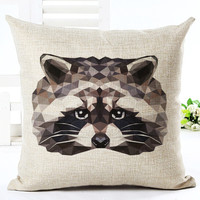 MYJ Newest 45x45cm Throw Pillow Cushion Houseware  Bed Chair Animal Printed Linen Cuscino Square Cushion print your name