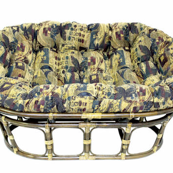 Double Papasan Chair with Jacquard Chenille Cushion