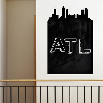 Atlanta Chalkboard Skyline wall decal