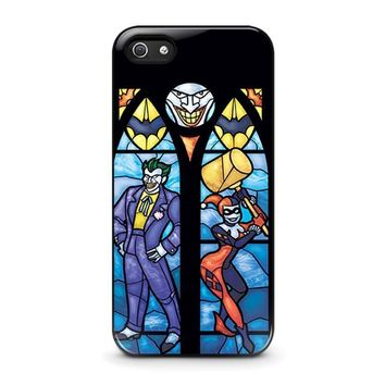 joker and harley quinn art iphone 5 5s se case cover  number 1