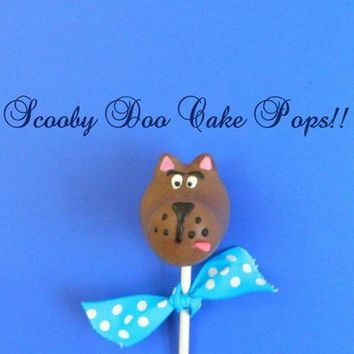 12 Scooby Doo Dog Cake Pops Birthday Party Favors Pop Chocolate