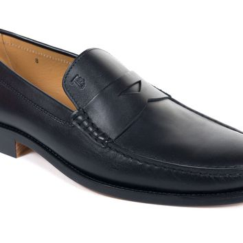 Tod's Men's Classic Black Leather Penny Loafers