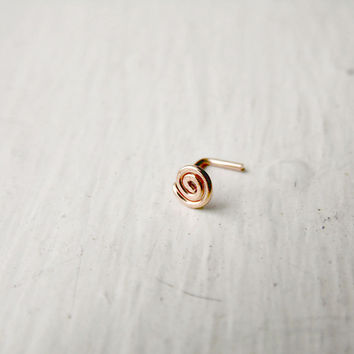 Spiral Nose Stud 14k Rose Gold Fill