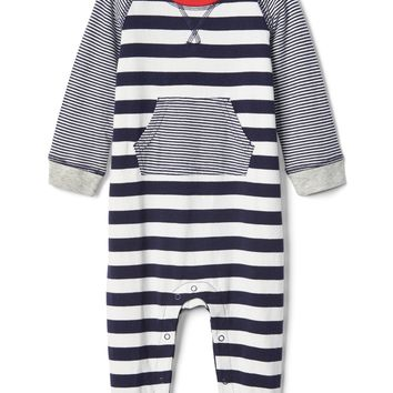 Organic stripe kanga one-piece|gap