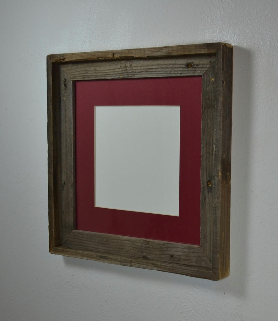 12x12 picture frame from upcycled wood from barnwood4u. Black Bedroom Furniture Sets. Home Design Ideas