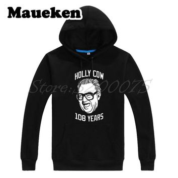 Men Hoodies Chicago Harry Caray Holly Cow 108 Years Champions Bill Murray Cubs Sweatshirts Hooded Thick Winter W17120217