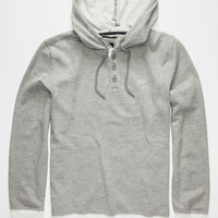 Rvca Capo Ii Mens Hoodie Grey  In Sizes