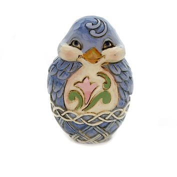 Jim Shore MINI EASTER EGGS Polyresin Hand Painted 6003620 Bluebird
