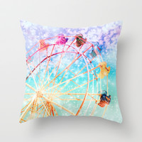 Galaxy Wheel Throw Pillow by Lisa Argyropoulos