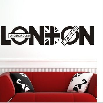 London Brit-pop Family Decal Decorative Wall Stickers
