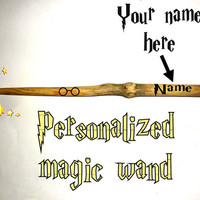 Personalised magic wand Harry Potter look. Your name printed on beautiful natural old tree branch. Unique custom name magic wand, keepsake.