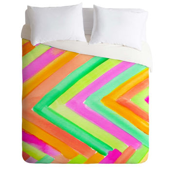 Rebecca Allen Summer Stays Duvet Cover