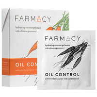 Farmacy Hydrating Coconut Gel Mask - Oil Control (Carrot) (3 masks)