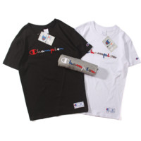 """ CHAMPION"" Fashion emdroider loose leisure round neck T-shirt"