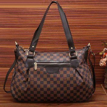 LMFON LV Louis Vuitton Women Shopping Bag Leather Shoulder Bag Satchel Crossbody Day-First?