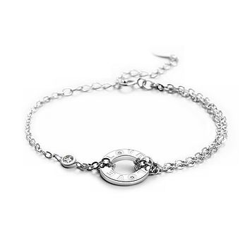 Customized Forever Love Cubic Zirconia 925 Sterling Silver Constellation Bracelets for Women  Fashion Jewelry