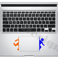 Portal inspired vinyl decals for the Macbook Trackpad - Trackpad decal - MacBook decal
