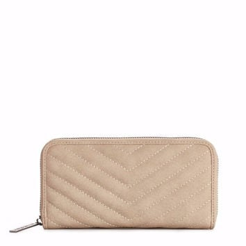 Zip Around Vegan Wallet in Taupe