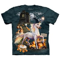 HALLOWEEN UNICORN Witch The Mountain Funny Holiday Pumpkin T-Shirt S-3XL NEW