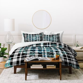 Madart Inc. Plaid Modern Design Mysterious Duvet Cover